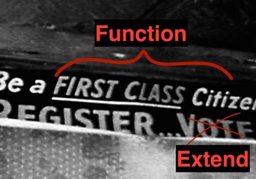 First Class Citizens in Extending Business Rules