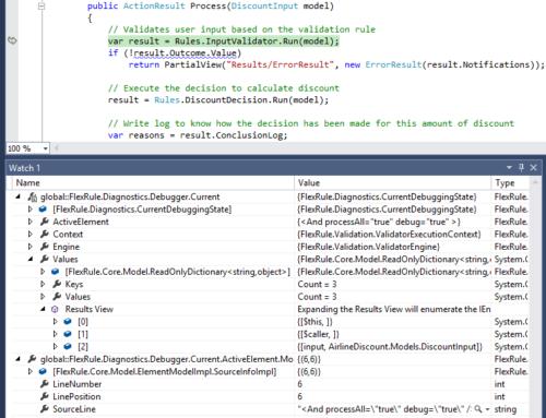 Debug Business Rules in Visual Studio