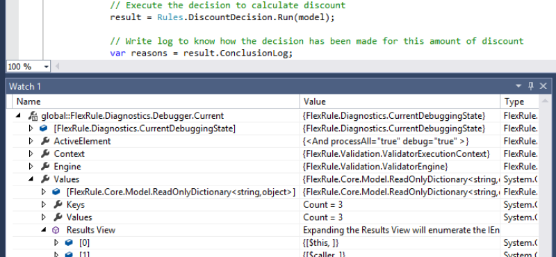 Debug Business Rules in Visual Studio