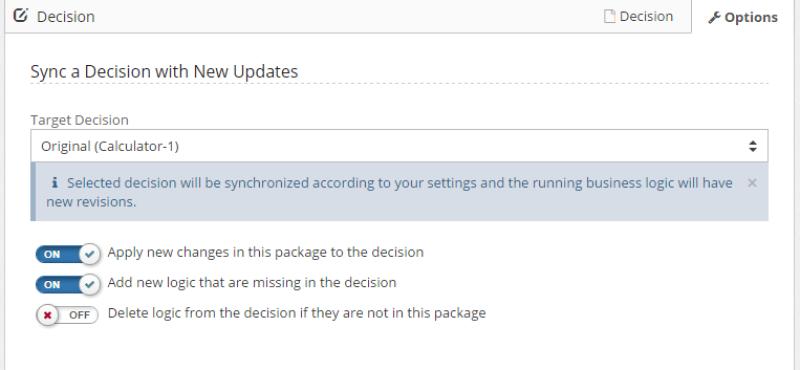 Synchronize Decision Service
