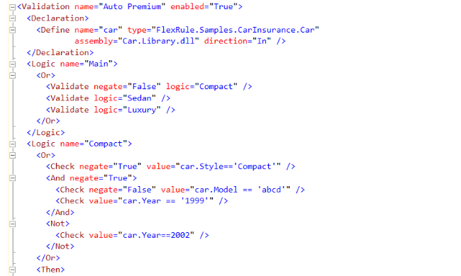 XML to model logic and extend the behaviour