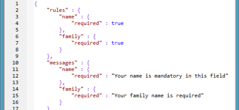 JavaScript Form Validation using Business Rules