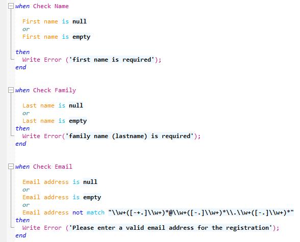 Natural Language - JavaScript Rules Engine