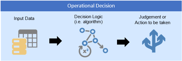 "operational decisions - Operational Decision structure. It includes the ""decision logic"", input data and the conclusion"