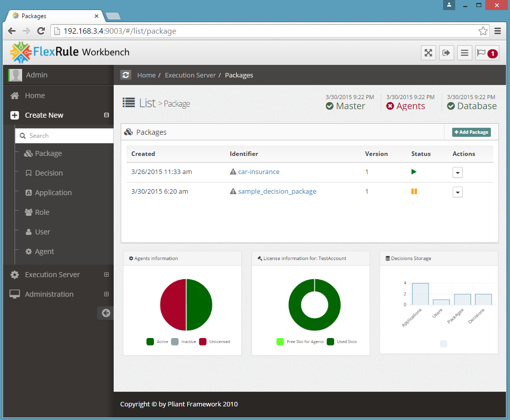 A Responsive Web-based Administration and Monitoring Console