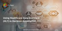 Health data exchange; using health data standards in decision automation