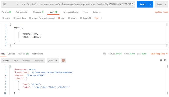 Decision as a function - Rest API service