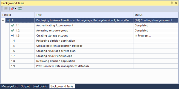 Decision as a function - azure deployment